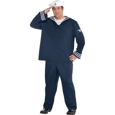 Sailor Halloween Costumes Men (Out to Sea Sailor Halloween Costume for Men, Plus)