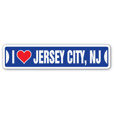 I LOVE JERSEY CITY, NEW JERSEY Street Sign nj city state us wall road décor gift](Party City In Wayne Nj)