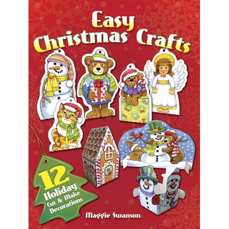 Easy Christmas Crafts: 12 Holiday Cut & Make Decorations (Paperback) ()