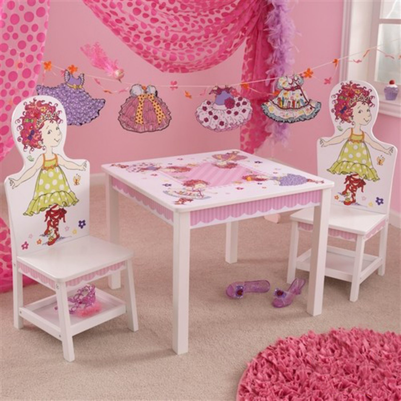 KidKraft Fancy Nancy Table and 2 Chair Set - 25001