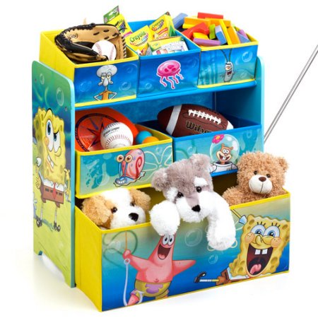 SpongeBob SquarePants Multi-Bin Toy Organizer by Delta Children
