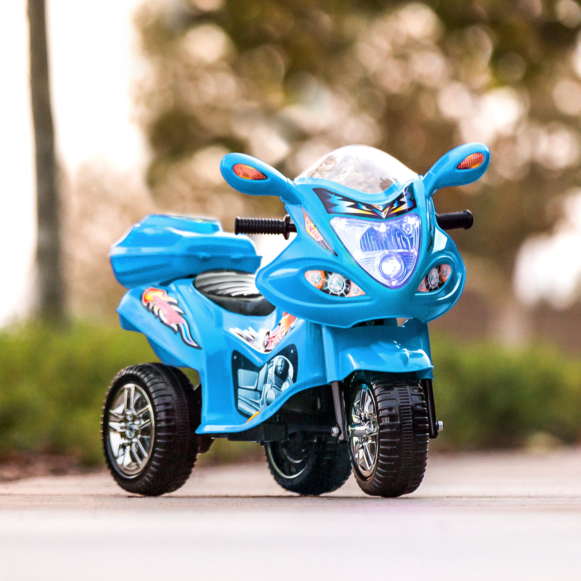 Best Choice Products 6V Kids Battery Powered 3-Wheel Motorcycle Ride ...