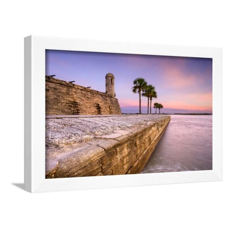 St. Augustine, Florida at the Castillo De San Marcos National Monument. Framed Print Wall Art By SeanPavonePhoto (Outlet De San Marcos)