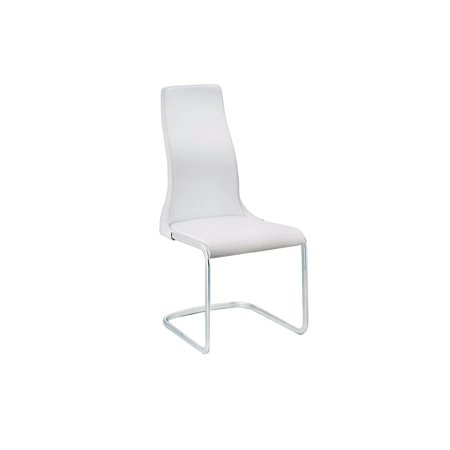 VERO Italian White Leather Dining Chair by Talenti Casa ()