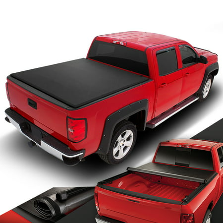 For 1982 to 1993 Chevy S10 GMC S15 / Sonoma 6' Short Bed Vinyl Soft Roll -Up Tonneau Cover 83 84 85 86 87 88 89 90 91 (1965 Chevy Short Bed Truck For Sale)