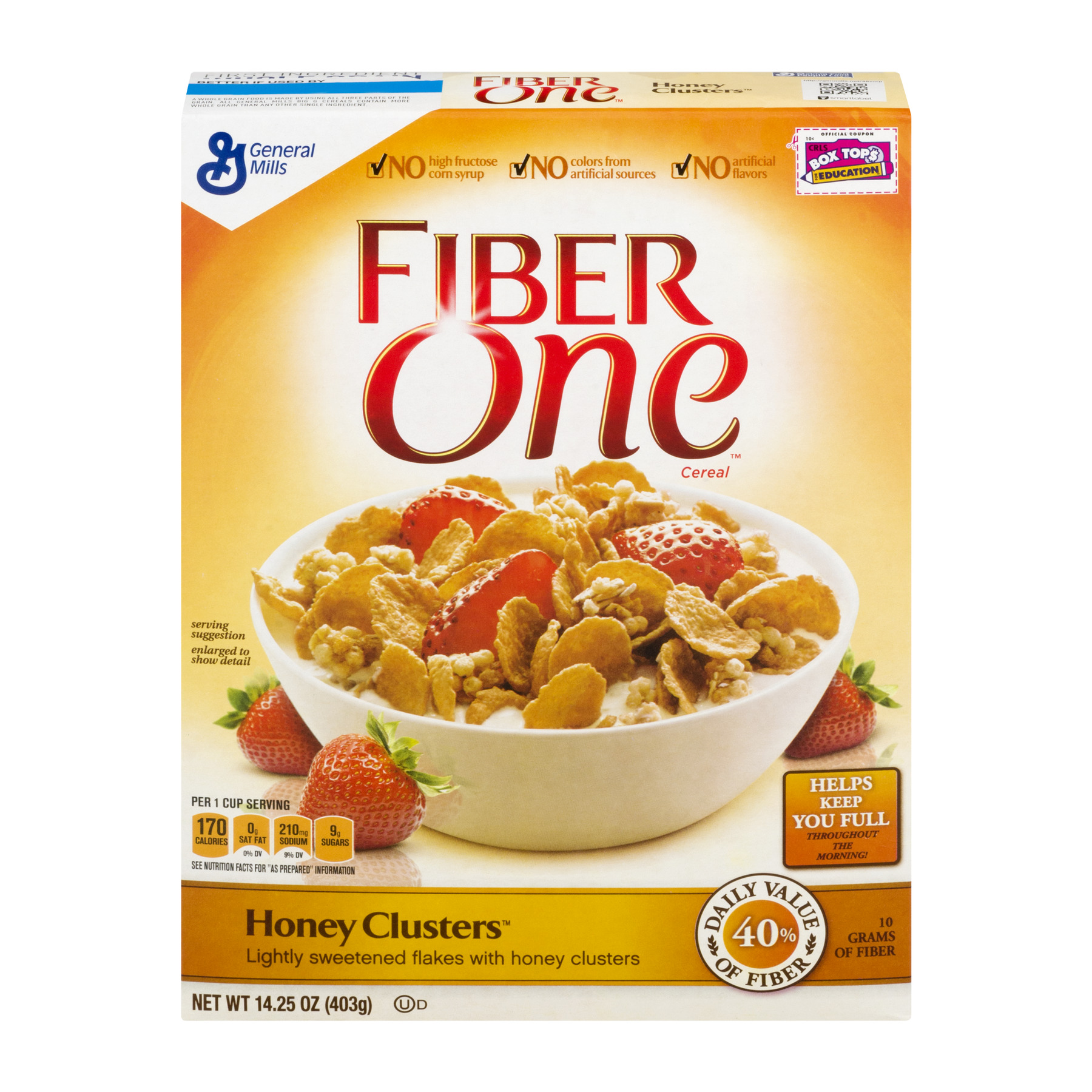 Fiber One Cereal Honey Clusters 14.25 oz Box