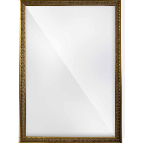 Alpine Fine Furniture 78619 Wave Collection 26 x 41 in. Etched Silver 2.5 in. Framed Wall Mirror by Alpine Art and Mirror