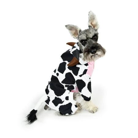 Halloween Cow Dog Pajama Size SM](Dog Halloween Contest 2017)