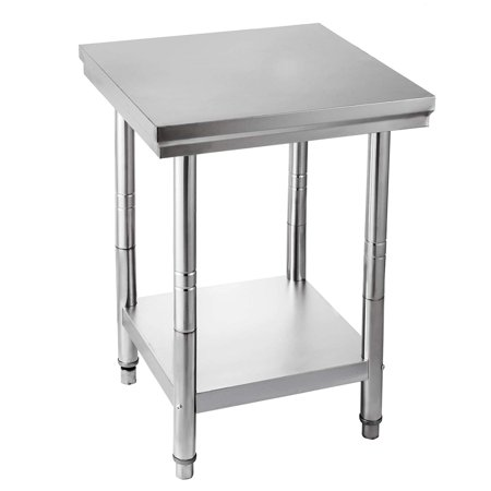 BestEquip NSF Stainless Steel Work Table Prep Work Table for Commercial Kitchen Restaurant ()