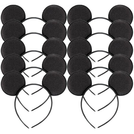 10 Pcs Black Minnie Mouse Ears Headbands Fashion Mickey Costume Party Head Band - Personalized Mickey Mouse Ears