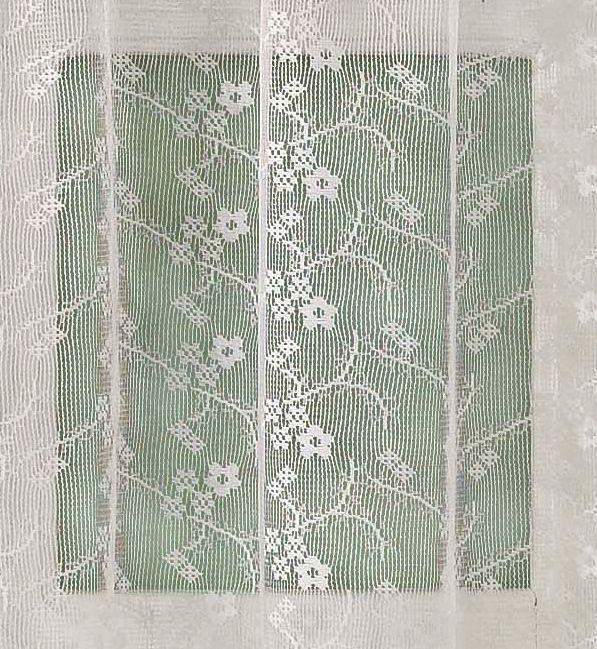 "Lorraine Home Priscilla Lace Layered Rod Pocket Panel 84"" Curtain Panel"