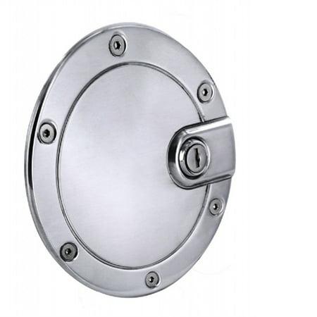 ALL SALES 6052PL 04-08 F150(EXCEPT FLARESIDE) BILLET FUEL DR 5 1/2IN RING O.D. POLISHED LOCKING Billet Locking Fuel Door