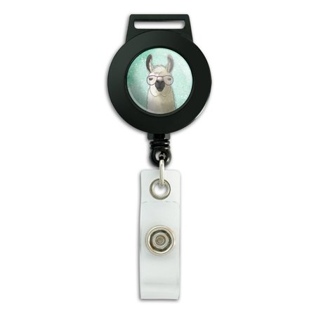 Hip Llama with Glasses Lanyard Retractable Reel Badge ID Card - Id Card Holder Lanyard