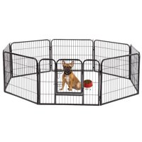 "BestPet Hammigrid 24"" 8 Panel Heavy Duty Pet Playpen Dog Exercise Pen Cat Fence"