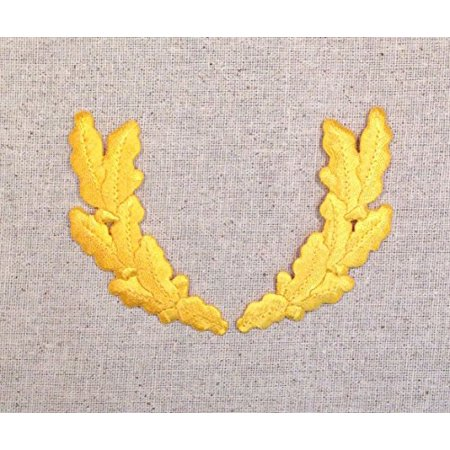 Yellow - Scrambled Eggs - Military Uniform - Iron on Applique/Embroidered (Chevron Military Uniform Patch)