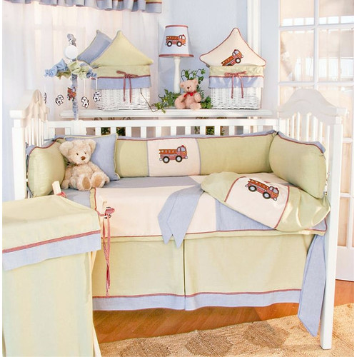 Brandee Danielle Fire Engine 4 Piece Crib Bedding Set