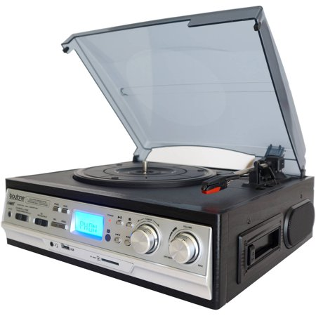 Boytone Multi RPM Turntable w/SD/AUX/USB/RCA/3.5mm Connectivity