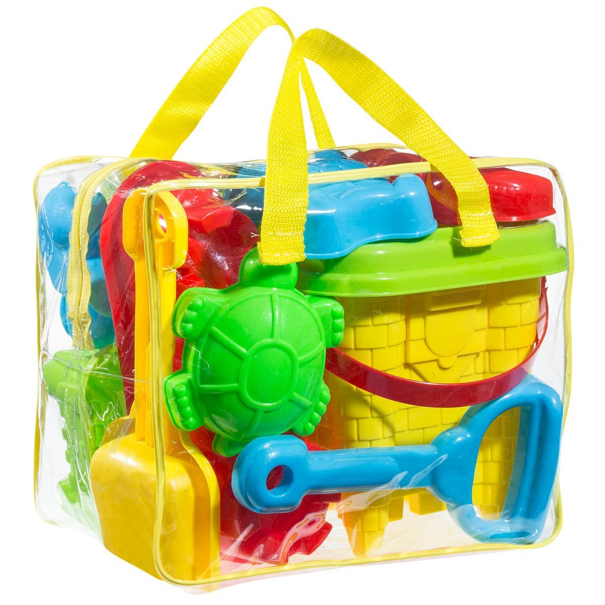 Click here to buy GoToys Beach sand Bathtub toy set, Models and Molds, Bucket, Shovels, Rakes, Etc. + Reusable Zippered Bag,it will keep....