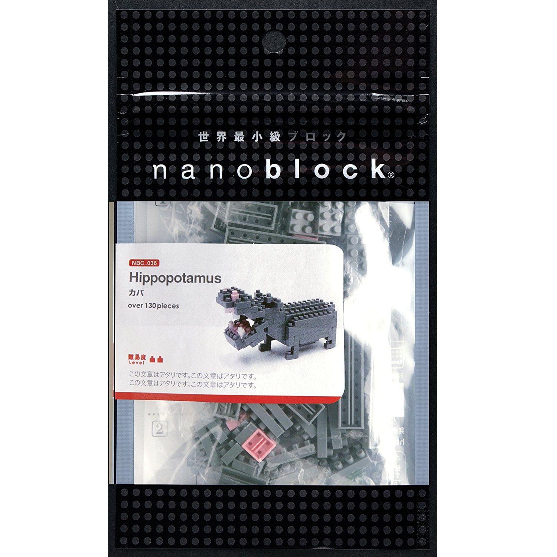 Hippopotamus Mini (Nanoblock) Building Set by Nanoblock (NBC049) by nanoblock