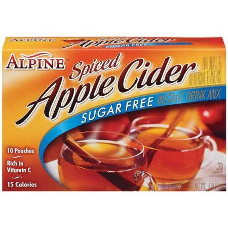 Alpine Spiced Apple Cider Sugar Free Instant Drink Mix 10 Ct (Pack of - Adult Apple Cider