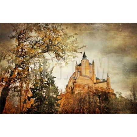 Mysterious  Castle Alcazar in Segovia, Spain Print Wall Art By Maugli-l