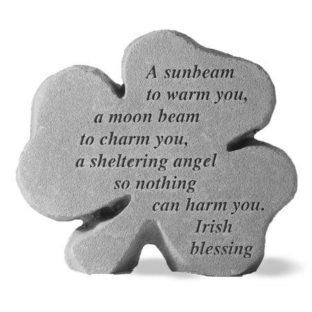 An Irish Blessing Shamrock Garden Stone