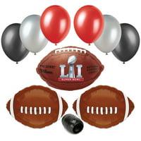 Super Bowl LI 51 2017 Football NFL Balloon Party Pack 10pc Starter Kit