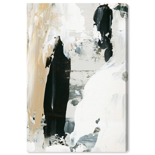 Runway Avenue Abstract Wall Art Canvas Prints Warm Greys Paint Black White Walmart Com Walmart Com