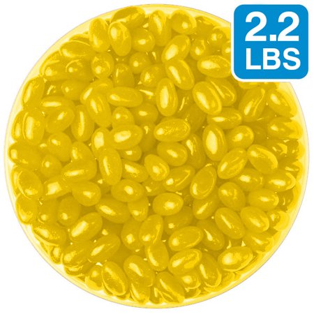 Jelly Beans: Yellow Lemon (2.2lbs Bag) - Yellow Jelly Beans