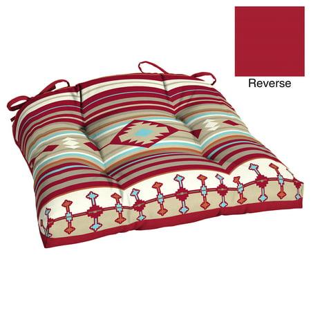 Better Homes & Gardens Outdoor 20 in W x 18 in D x 3.5 in H Wicker Seat Cushion, Native Stripe ()