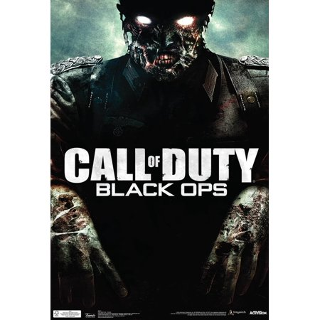 Call Of Duty Black Ops Zombie Video Game Poster - 13x19 - Rob Zombie Halloween Poster