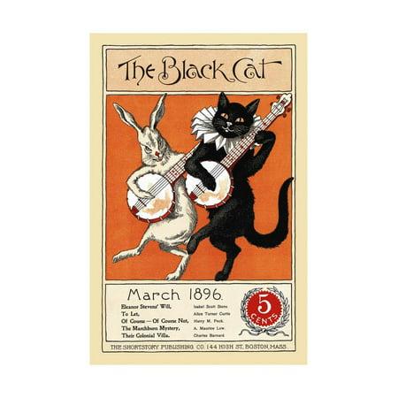 1896 Art - The Black Cat, March 1896 Print Wall Art
