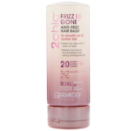 Giovanni  2chic  Frizz Be Gone Anti-Frizz Hair Balm  Shea Butter   Sweet Almond Oil  5 fl oz  147 ml
