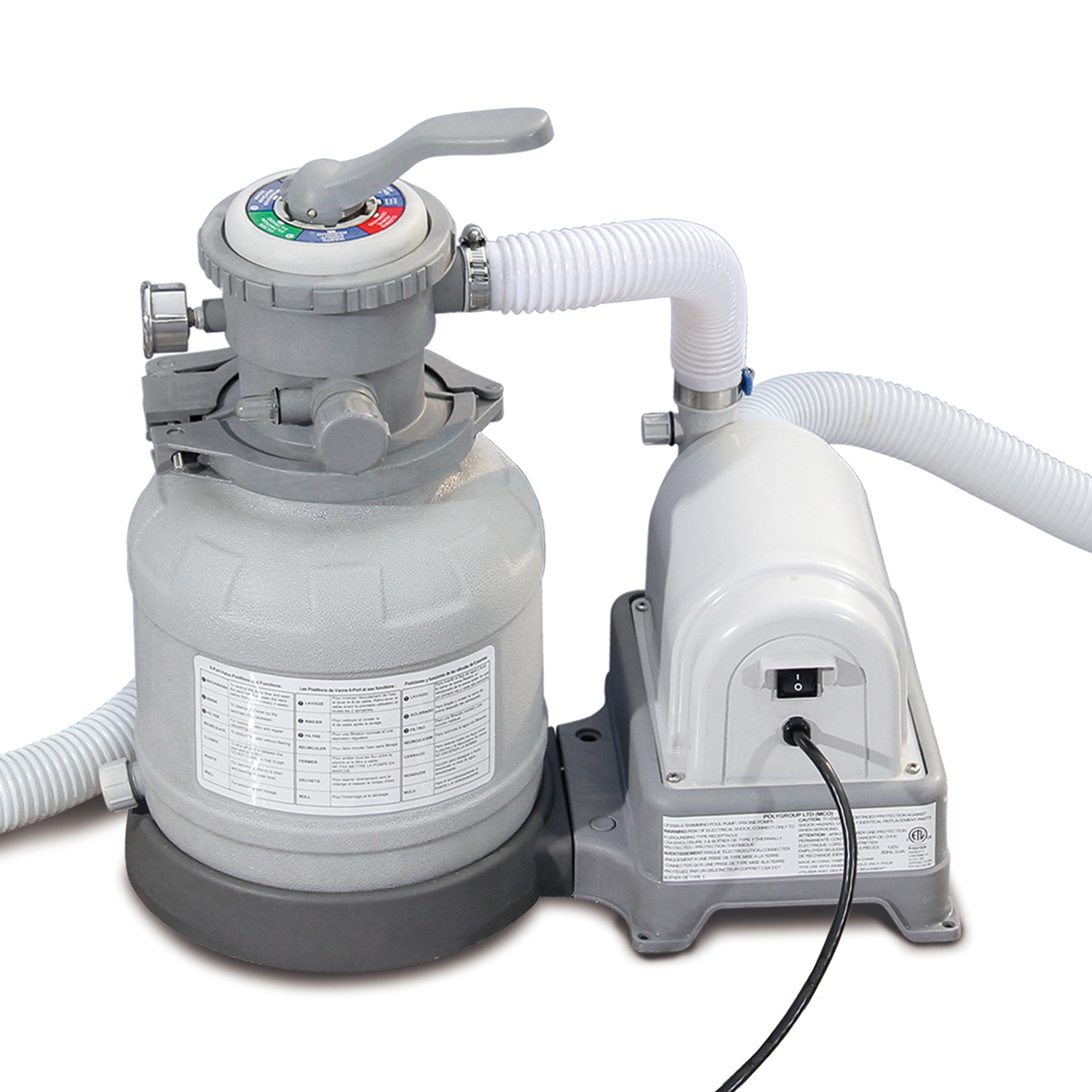 Summer Waves Swimming Pool Sand Filter Pump With Gfci Walmart Com