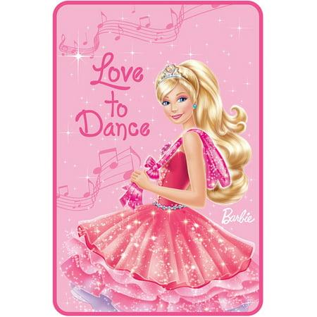 Barbie Love To Dance Bedding Throw Blanket Walmart Com