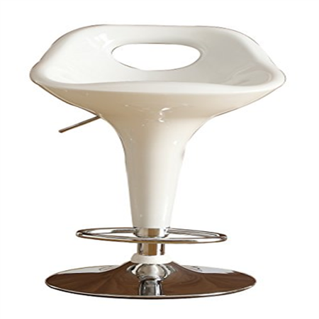 Homelegance 1147WHT Hydraulic Swivel Barstool, White, Set of 2
