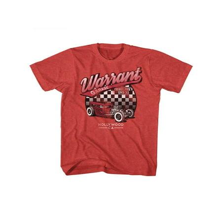 Warrant American Glam Metal Band Warrant Garage Youth Big Boys T-Shirt