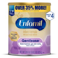 Enfamil Gentlease Infant Formula Powder, Gentle Formula for Fussiness, Gas, and Crying - 4 Cans (29.1 oz Each)