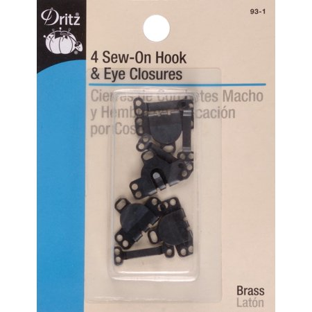 - Dritz Sew-On Skirt Hook & Eye Closures 4/Pkg-Black