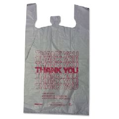 Barnes Paper Company High-Density Shopping Bag in White