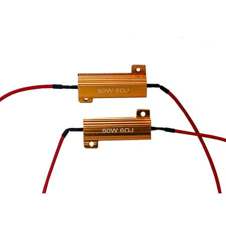 Load Resistors OZ-USA® LED Turn Signal Motorcycle Harley Blinker Xl Lights Flash Fix FX