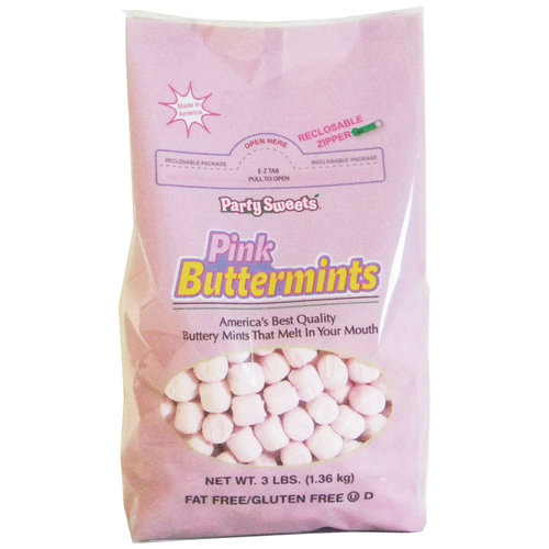 Party Sweets Pink Buttermints, 3-lb