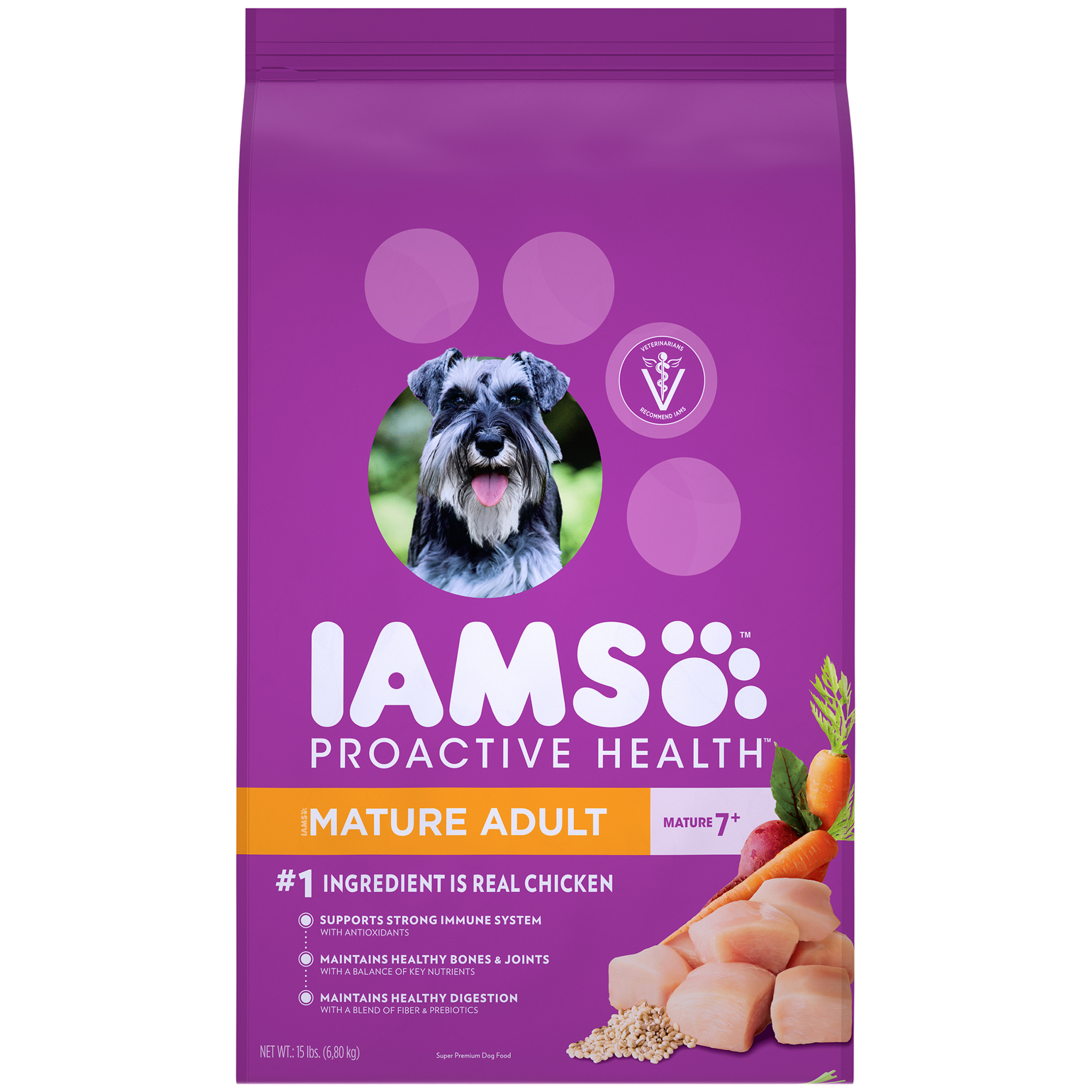 IAMS PROACTIVE HEALTH Mature Adult Dry Dog Food Chicken, 15 lb. Bag by Mars Petcare