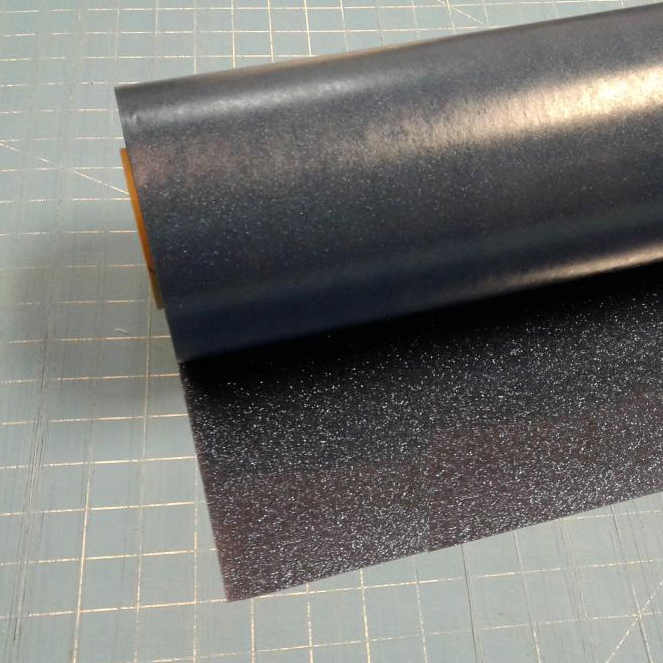 "Navy Blue Glitterflex Ultra 19.5"" x 3' Roll Glitter, Heat Transfer Vinyl, HTV"