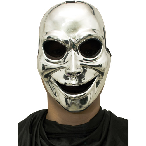 Sinister Ghost Silver Mask Adult Halloween Accessory