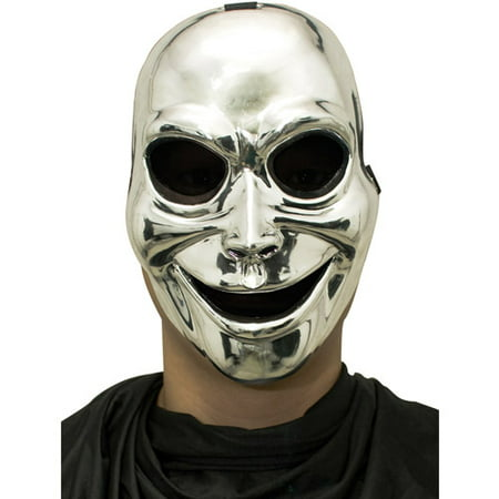 Sinister Ghost Silver Mask Adult Halloween - Sinister Mask