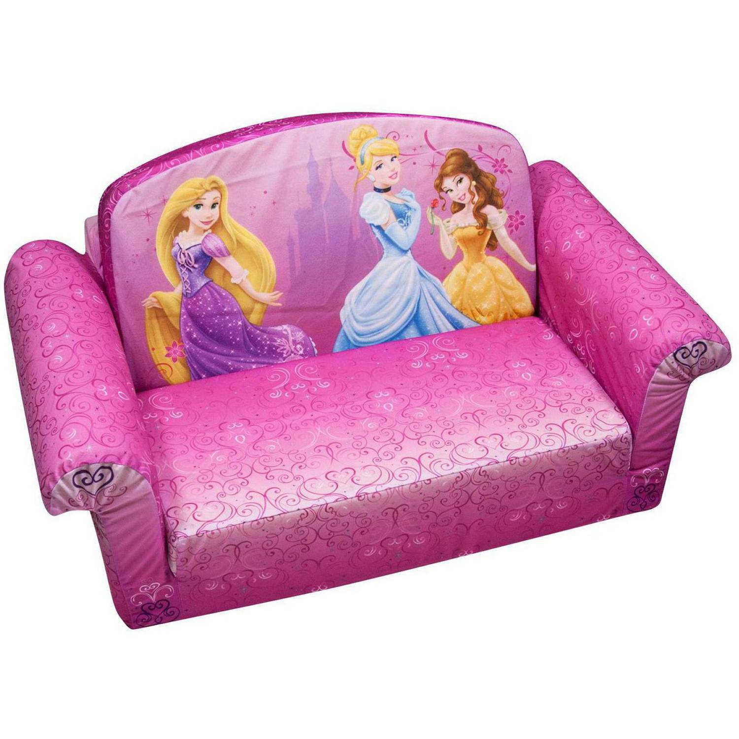 Marshmallow 2 In 1 Flip Open Sofa Disney Princess Walmart Com