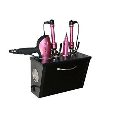 Pojjo Curling Iron Dryer And Flat Holder Wall Mount