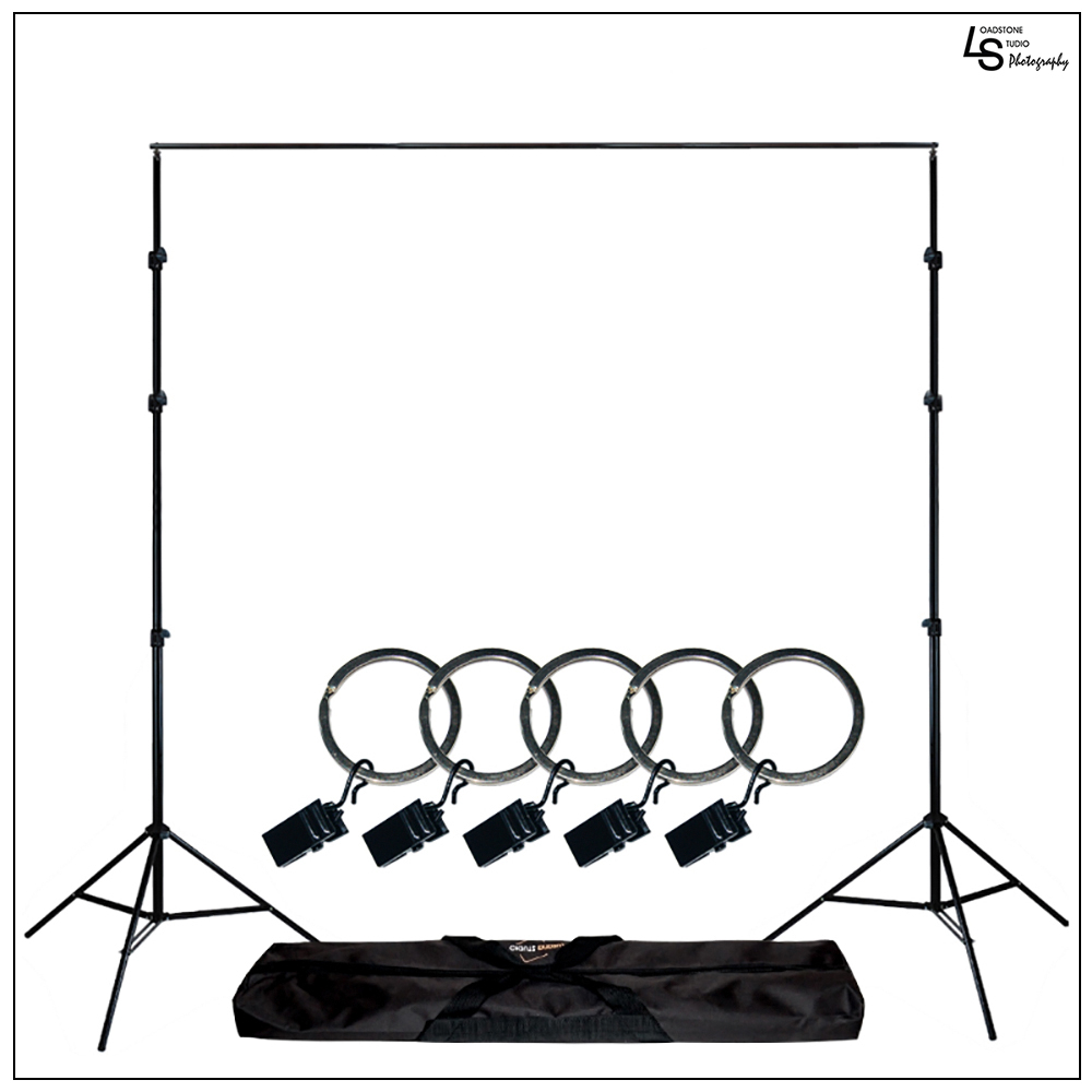 Loadstone Studio Photo Video Studio Background Backdrop Support Stand 5x Backdrop Helper Holders Kit with Bag, WMLS1442