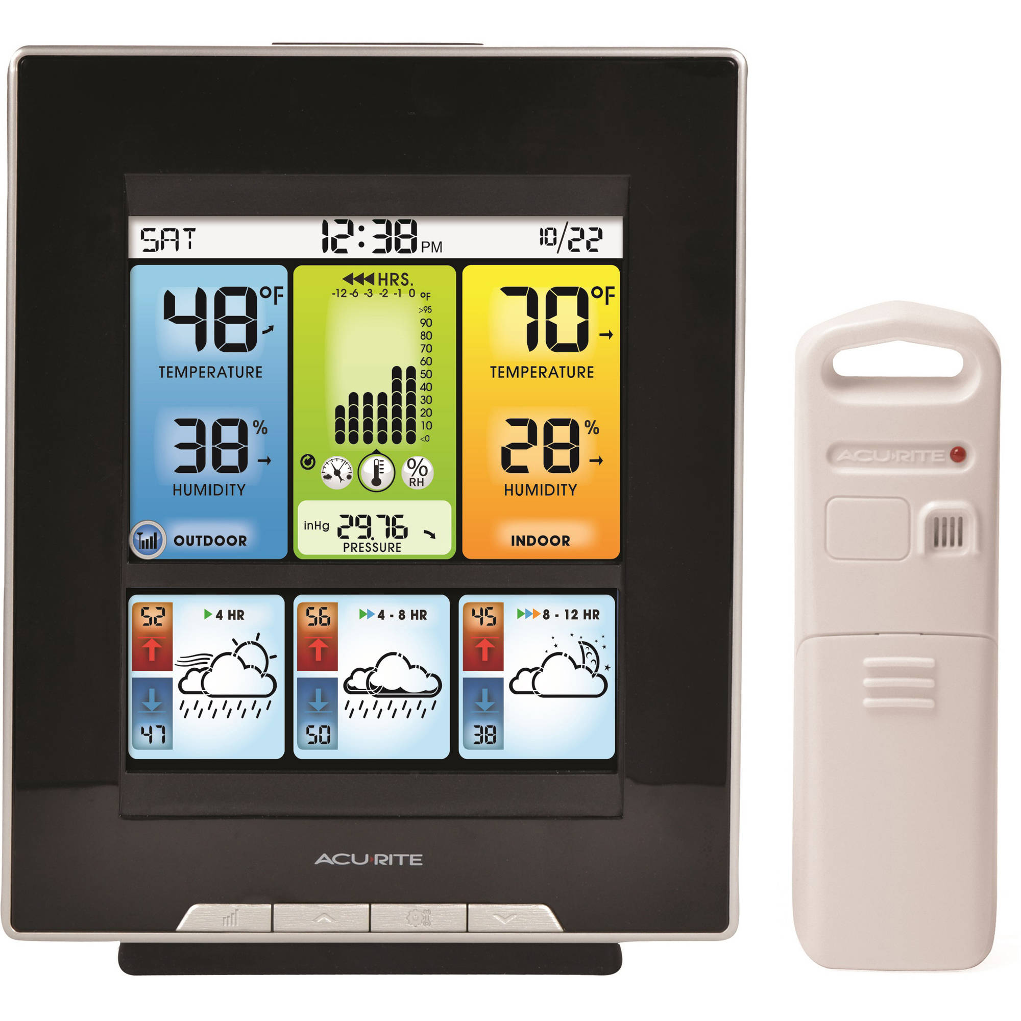 AcuRite Color Weather Station with Morning, Noon and Night Forecast